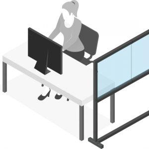 Plexiglas Scheidingswand - Groot